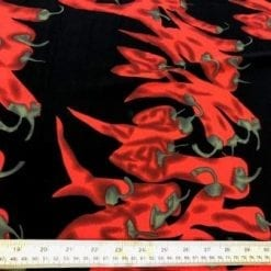 red suprise crepe de chine