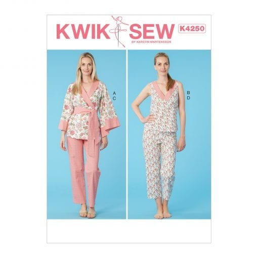 Ladies Pyjamas sewing pattern