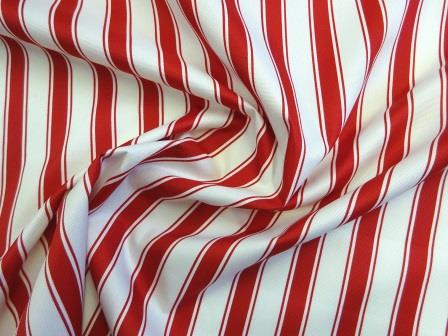 Canvas Fabric PU Water Repellent red/white