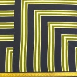 Viscose Fabric Geometric Khaki La De Dar