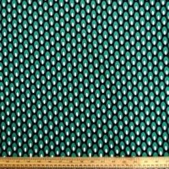 Crepe De Chine Fabric Rain Drops Emerald
