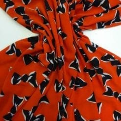 Crepe De Chine Fabric Bo How Red