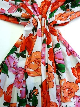 Crepe De Chine Fabric Red Rum Punch