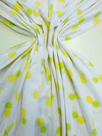 T-shirting Fabric Pineapple Fun