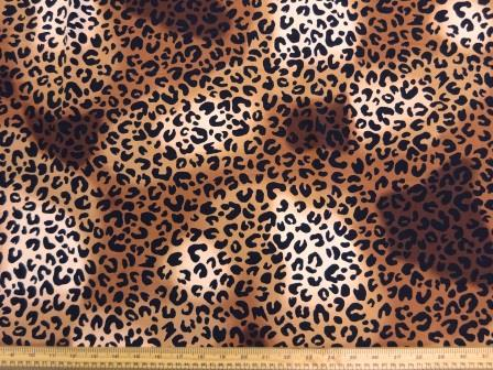 Crepe De Chine Fabric Jungle Leopard Style