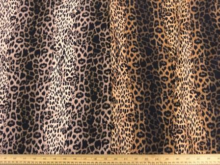 Crepe De Chine Fabric Funky Leopard Cat