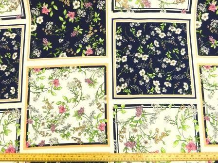 Crepe Fabric Roman Garden