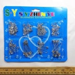 Safety Pin Packets Silver Mixed Sizes