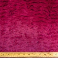 Faux Fur Fabric Hot Dog Raspberry