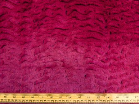 Faux Fur Fabric Hot Dog Raspberry