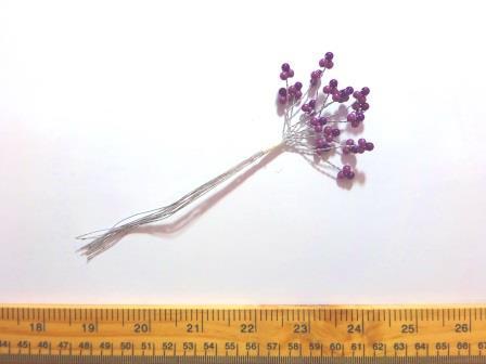 Flower Mixed 3mm Bead Stems 2057 mauve