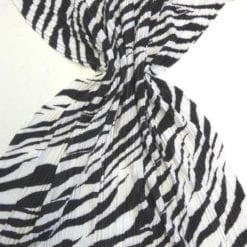 Satin Fabric Zebra Crinkle