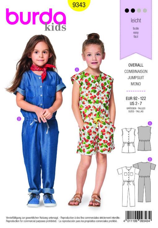 Burda Sewing Pattern 9343