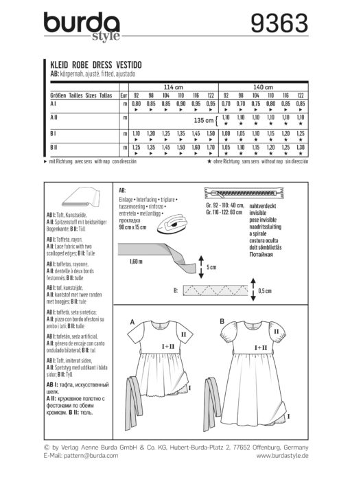 Burda Sewing Pattern 9363