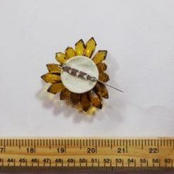 Glass Bead Brooch