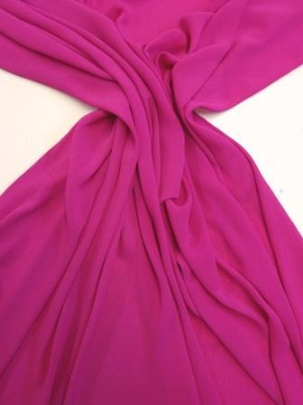 Crepe Fabric Crinkle Cerise