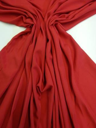 Viscose Fabric Plain Ruby