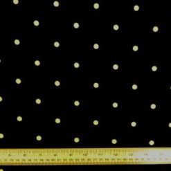 Crepe de Chine Fabric Yellow Polka Spot