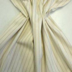 Suiting Fabric Beige Linen Stripe