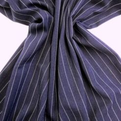 Suiting Fabric Pin Stripe Gangster Robin Navy