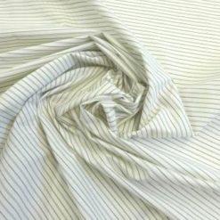 Poly Cotton Fabric Waistcoat Stripe Grey