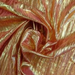 red/gold metallic crinkle foil
