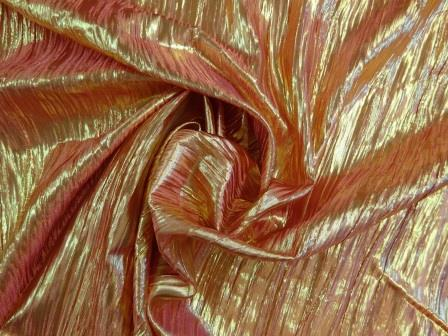 red/gold metallic crinkle foil
