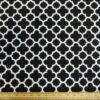 Cotton Canvas Fabric Trellis Black/White