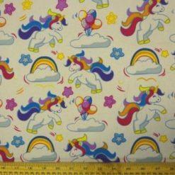 Cotton Canvas Fabric Unicorns