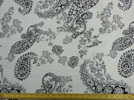 Cotton Canvas Fabric Colour Me Paisley