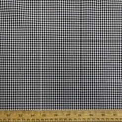 Black Cotton Fabric Chefs Check Gingham