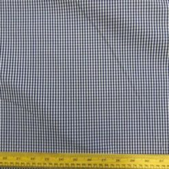 Navy Cotton Fabric Chefs Check Gingham