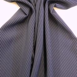 Suiting Fabric Navy Pinstripe Corporate