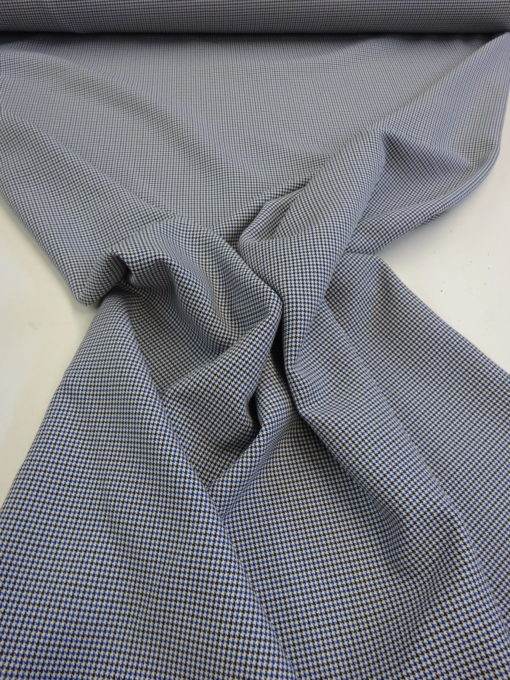 Suiting Fabric Puppy Tooth Check Roxy Blue