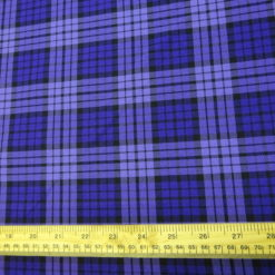 Suiting Fabric Purple Plaid