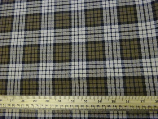 Suiting Fabric Roman Plaid Beige