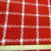 Jacketing Fabric Tartan Red Boucle Gilt