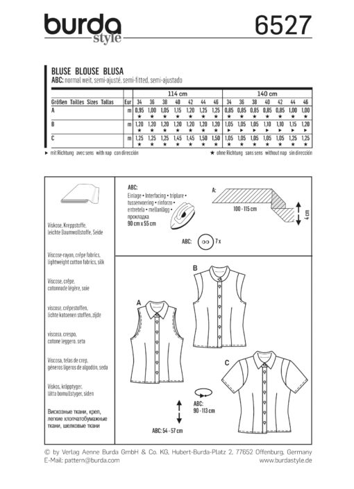 Burda Sewing Pattern 6527