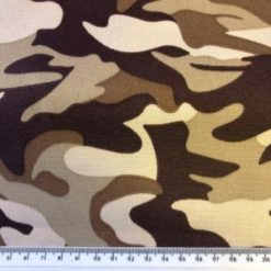 Canvas Fabric PU Water Repellent Camoflague Beige