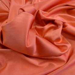 Stretch Sateen Fabric Tangerine