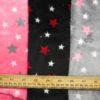 Fleece Velour Fabric Jupiter Stars