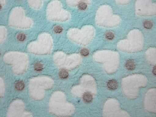 Huggable Fleece Fabric Hearts Dots