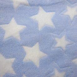 Huggable Fleece Fabric Star Bright Sky Blue