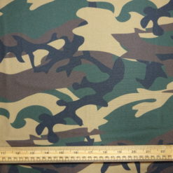 Lycra Patterned Fabric Green Camouflage
