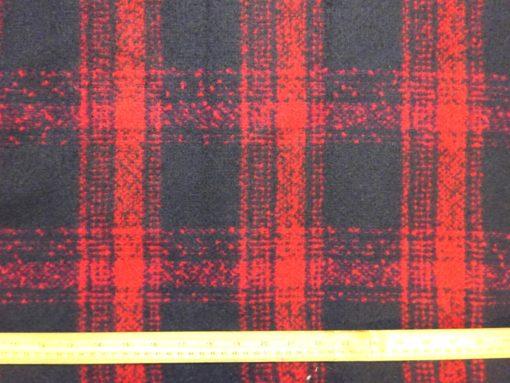 Polyester Wool Jacketing Fabric Plaid Royal Huntsman George Navy