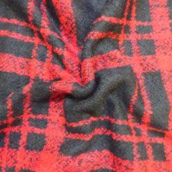Polyester Wool Jacketing Fabric Plaid Royal Huntsman
