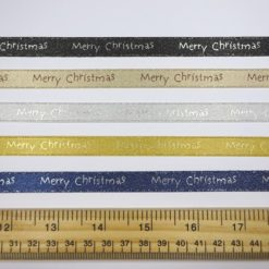Christmas Ribbon 10mm Wide Merry Christmas