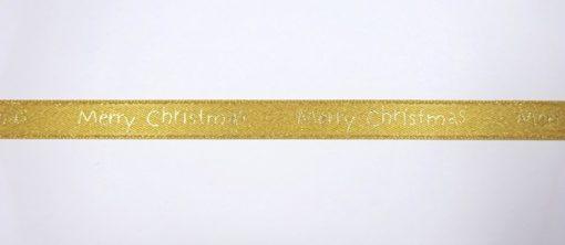 Christmas Ribbon 10mm Wide Merry Christmas
