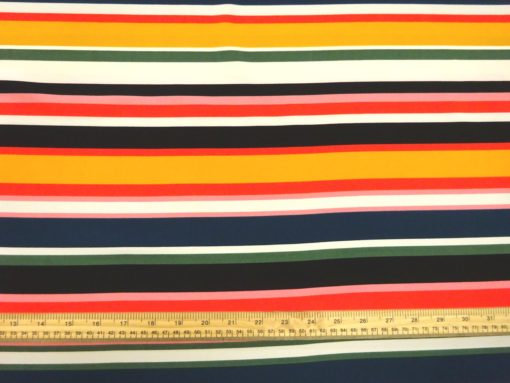T-Shirting Jersey Fabric Rock-A-Billy Stripe Pink Red