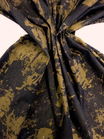 Denim Fabric Tie Dye Camouflage